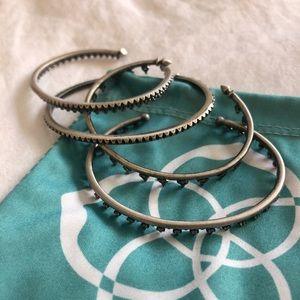 2 Sets of Kendra Scott Dark Silver Bracelets